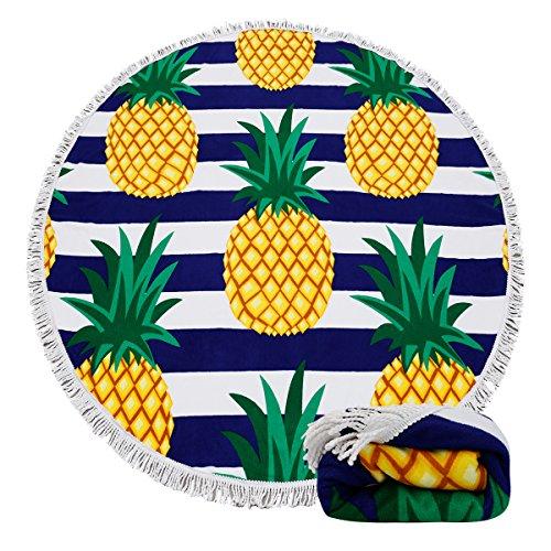Genovega Thick Round Beach Towel Blanket - Hawaii Hawaiian T