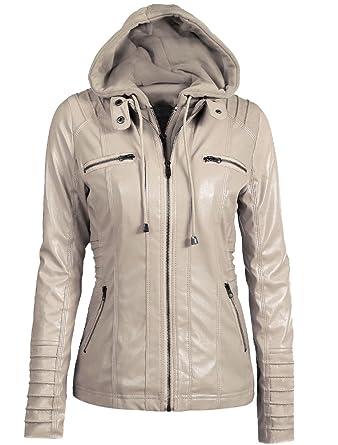 Cuir Manteau Vest En Capuche Vent Fermeture Avec Coupe Vogstyle Eclair Jacket À Femme ItBwqIS