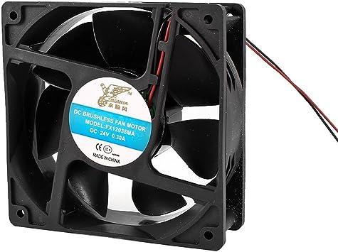 12cm x 4cm 2 Terminales de refrigeración del ventilador DC 24V 0 ...