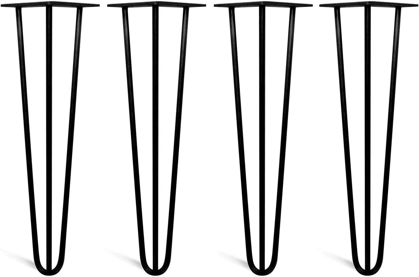 Set of 4 Hairpin Legs with Floor Protector Feet /& Screws,Strong /& Durable Design