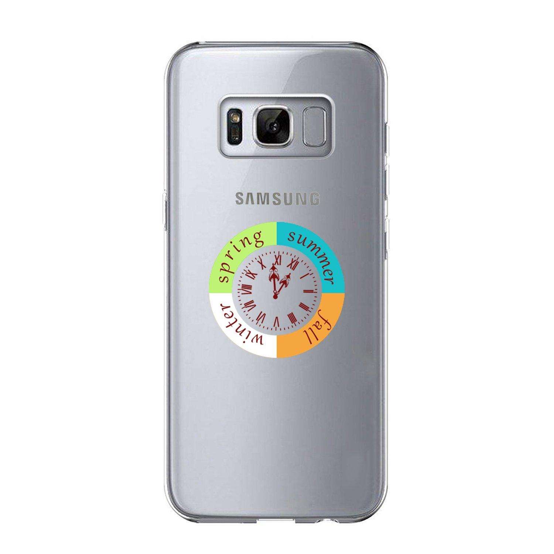 Vanki® Custodia Samsung Galaxy S8 Trasparente TPU Gel Silicone Anti-Scratch Bumper Protettivo Skin Case Cover Ultra Sottile Flessibile Morbido Protettiva Shell 5.8 Pollici 1) VITLM-SJBX71