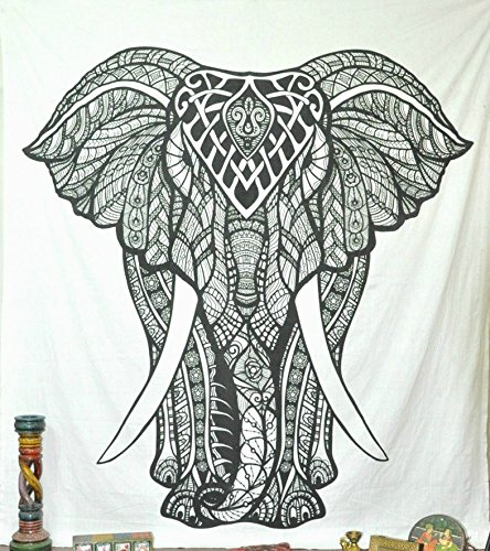 Jaipurhandloom Christmas Gift Elephant Tapestries Psychedelic Wall Hanging Elephant Tapestry Hippie Tapestry Wall Tapestries Bohemian Tapestries Indian Tapestry Wall Hanging Decor