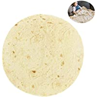 MOGOI Corn Tortilla Round Microfiber Beach Towel, Round Burrito Wrap Novelty Blanket Taco Printed Beach Towel for Yoga Mat Picnic Blanket Baby Pet Playing Mat (48/60/ 72 Inch)