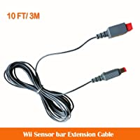 GAMEMON 10 FT Sensor Bar Extension Cable for Wii & Wii U