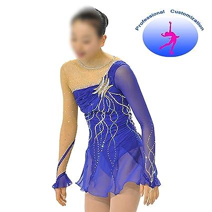 05e7edf2b9c4 CUIXI Ice Skating Dress Competition Rhythmic Gymnastics Leotard for Girls  and Women Handmade Figure Skating Professional