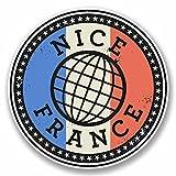 2 x 30cm- 300mm Nice France Vinyl SELF ADHESIVE STICKER Decal Laptop Car Travel Luggage Label Tag #9845