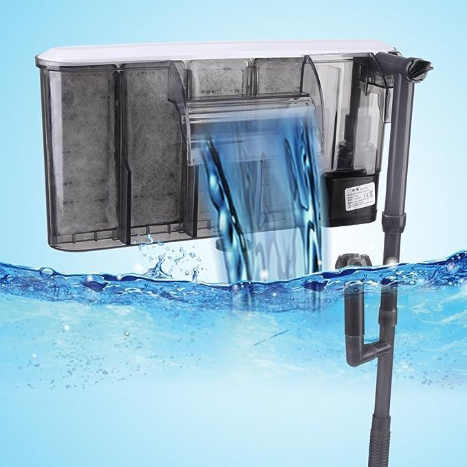 Acogedor Cascada de Filtro del Acuario Filtro del Tanque de Peces Filtro de Potencia del Tanque de Peces Colgante Externo(Británico): Amazon.es: Productos ...