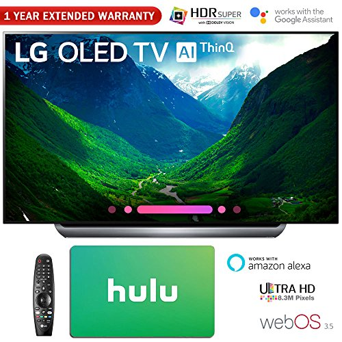 LG Electronics 4K Ultra HD Smart OLED TV 4K HDR AI Smart TV with Hulu $100 Gift Card & 1 Year Extended Warranty (77″ OLED77C8)