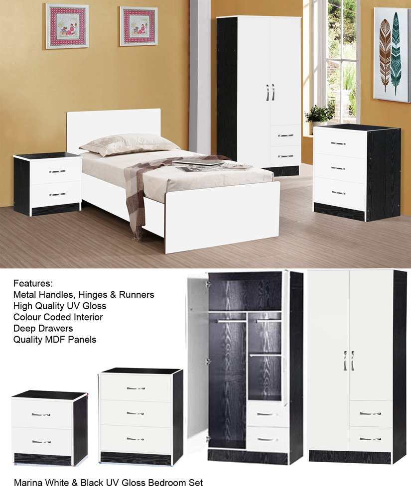 Bedroom Furniture White Gloss Interior Design
