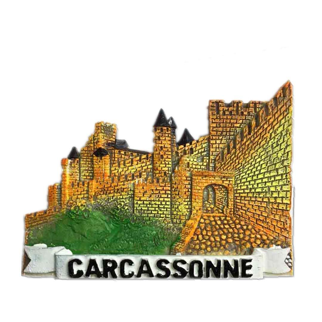 Castillo de Carcassonne Francia Refrigerador 3D Imán de Nevera ...