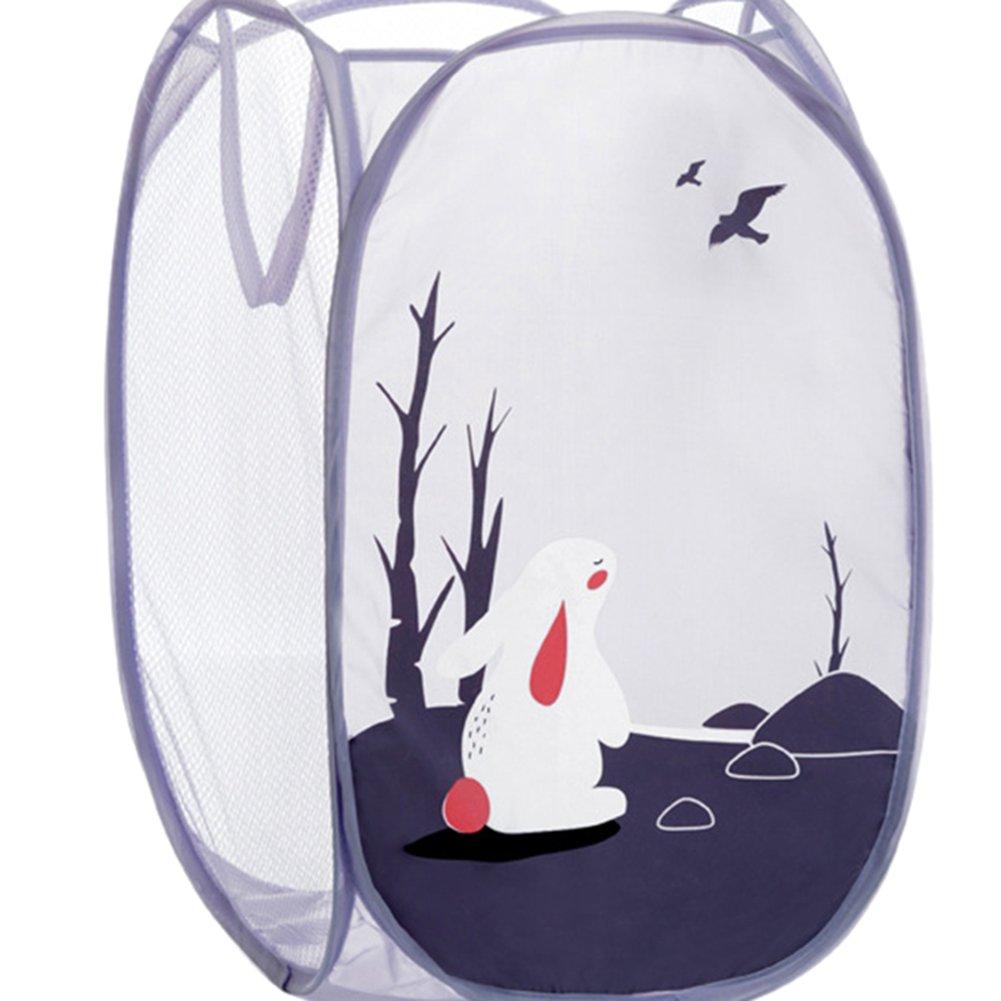 Drawihi Kaninchen Muster Aufbewahrungstasche Aufbewahrungskorb Organizer W/äschesammler Aufbewahrungskiste Kinderzimmer W/äschek/örbe Spielzeugkiste 50*35*35 cm