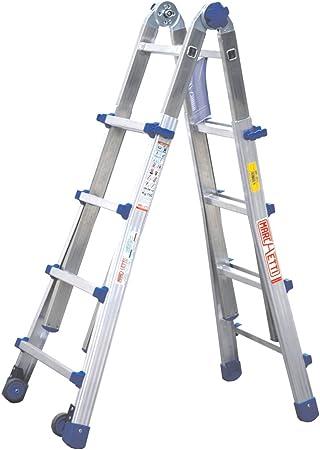 Escalera telescópica/escalera multifunción con ruedas Equipe hasta 4,10 m (equ44) extensible multiusos Escalera/escalera de aluminio: Amazon.es: Bricolaje y herramientas
