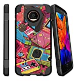 MINITURTLE Case Compatible w/ Z2 Force XT1710 | Moto Z2 Play Retro Stand Case Gaming Design Case for Z2 Force XT1710 Retro Game Controllers For Sale