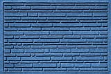 Bungalow Flooring Aqua Shield Broken Brick Medium Pet Mat, 17.5 x 26.5'', Blue