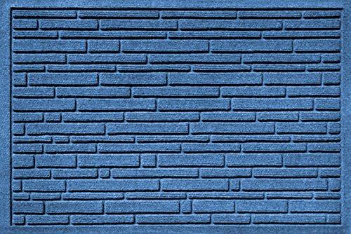 Bungalow Flooring Aqua Shield Broken Brick Medium Pet Mat, 17.5 x 26.5'', Blue by Bungalow