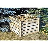 COMPOSTIERA legno silos di compostaggio KIT 100x100x70cm COMPOSTER