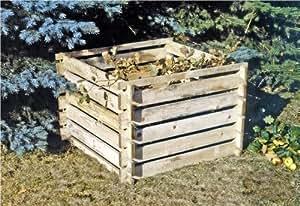 Compostador Madera Silo De Compost Kit Construcción 100x100x70cm