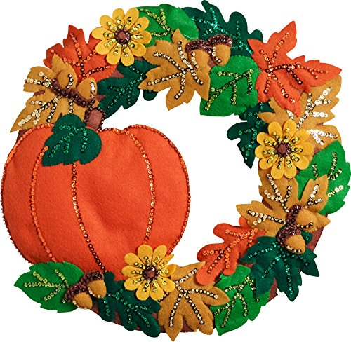 Bucilla 86831 Fall Wreath Wallhanging -