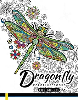 Dragonfly Coloring Books For Adults Magical Wonderful Dragonflies In The Flower Garden