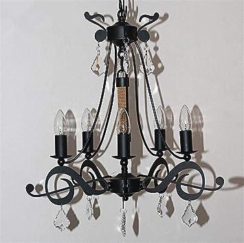 DENG Negro Moda Mordern LED de la Vela de la lámpara de la ...