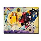 Yellow, Red and Blue canvas art adds atmosphere to any bedroom or living room.Artist Grade Canvas Stretched on double-wide Solid Wood.