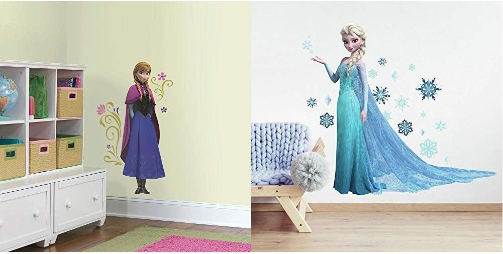 RoomMates Frozen Elsa and Anna Giant Peel and Stick Wall Decal Bundle Pack