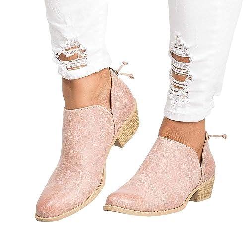16beaa0378b444 Bottine Femmes Plates Cheville Basse Cuir Boots Femme Bottes Talon Chelsea  Chic Compensé Grande Taille Chaussures