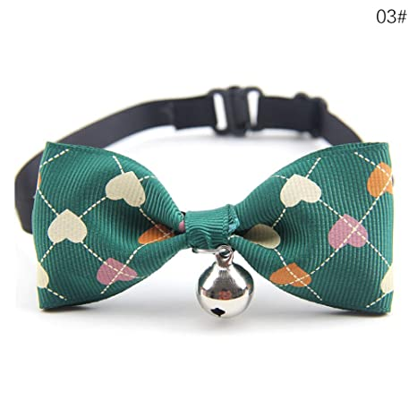 STRUGGGE Collar de Cascabel para Mascotas con Pajarita, Collar Ajustable para Gatos y Gatitos,