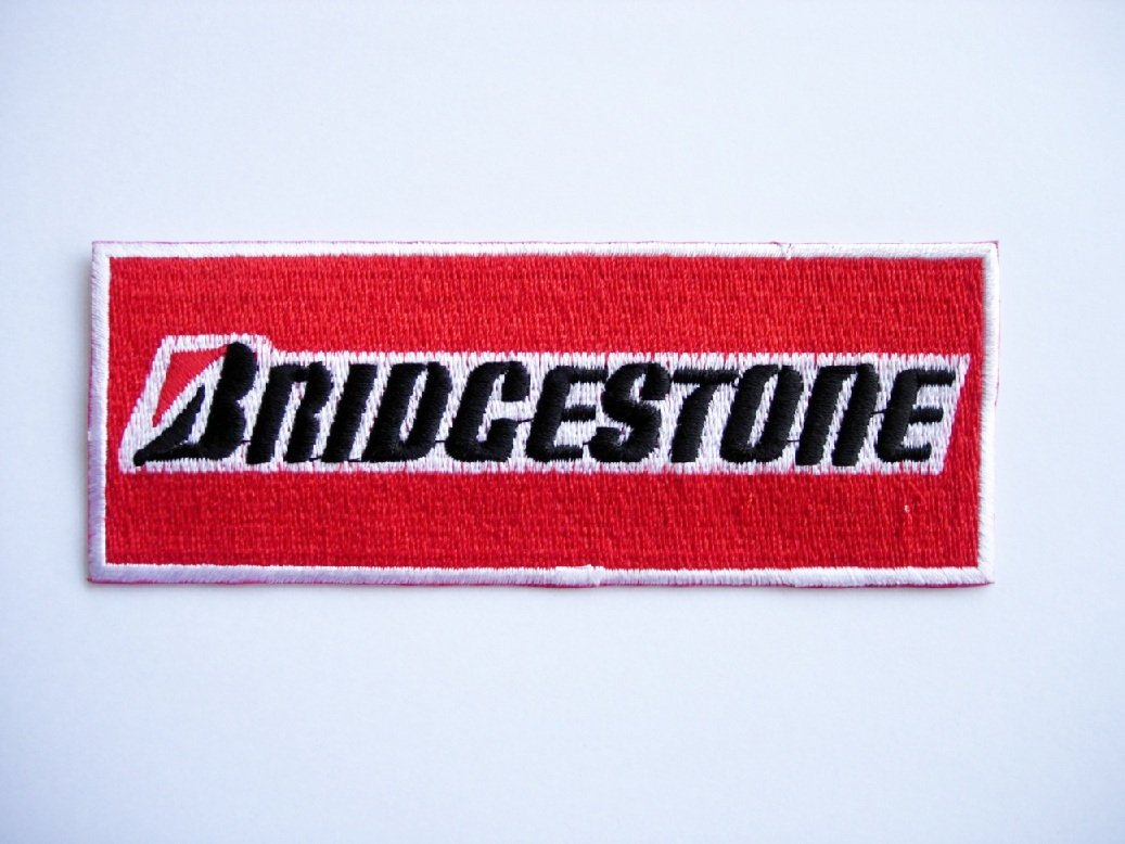 Cars Racing Car Team Iron on Patch Motorsport Patches Applique embroidery /Écusson brod/é Costume Cadeau- Give Away Logo BRIDGESTONE