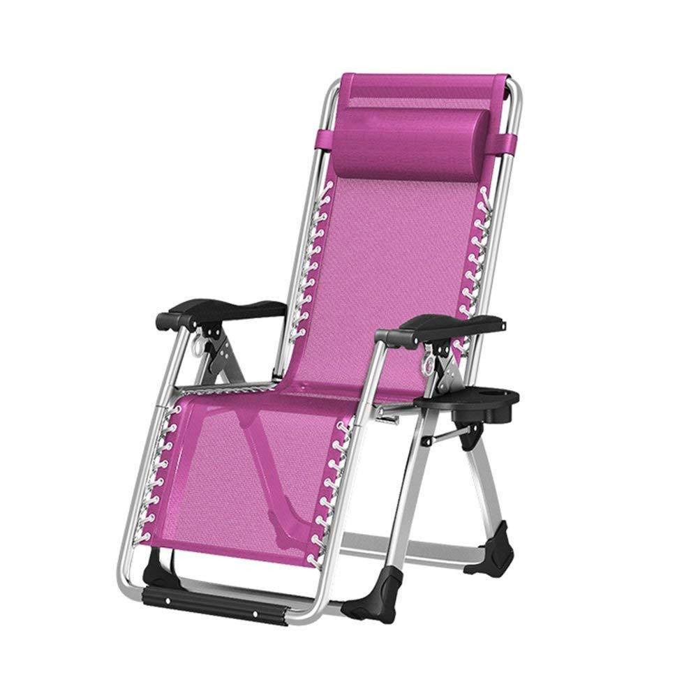 encuentra tu favorito aquí púrpura Folding chair Balcón Plegable Plegable Plegable reclinable Tumbona Silla de casa Perezosa Siesta Cama Plegable, una Variedad de Colors Opcionales 1806140cm  marca en liquidación de venta