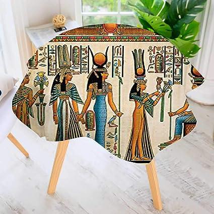 amazon com uhoo2018 round tablecloth collection egyptian papyrus rh amazon com