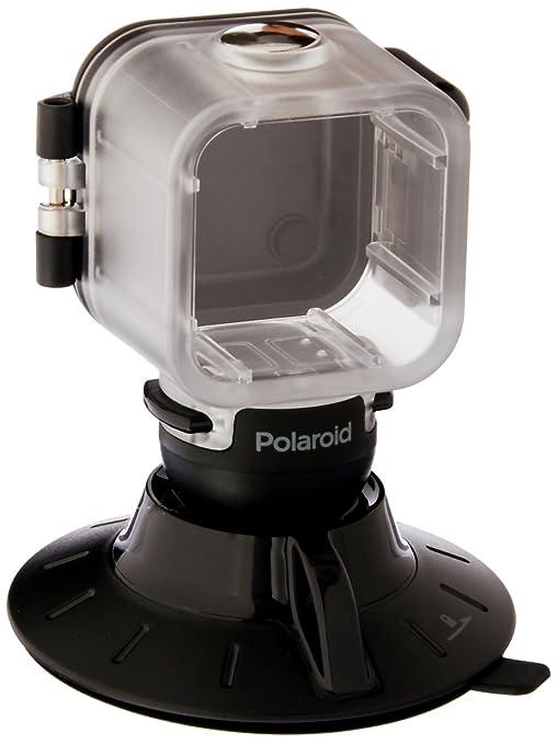 Polaroid Soporte de Ventosa para el Polaroid Cube, Cubo + HD Acción Cámara Estilo de Vida – Incluye Funda Impermeable