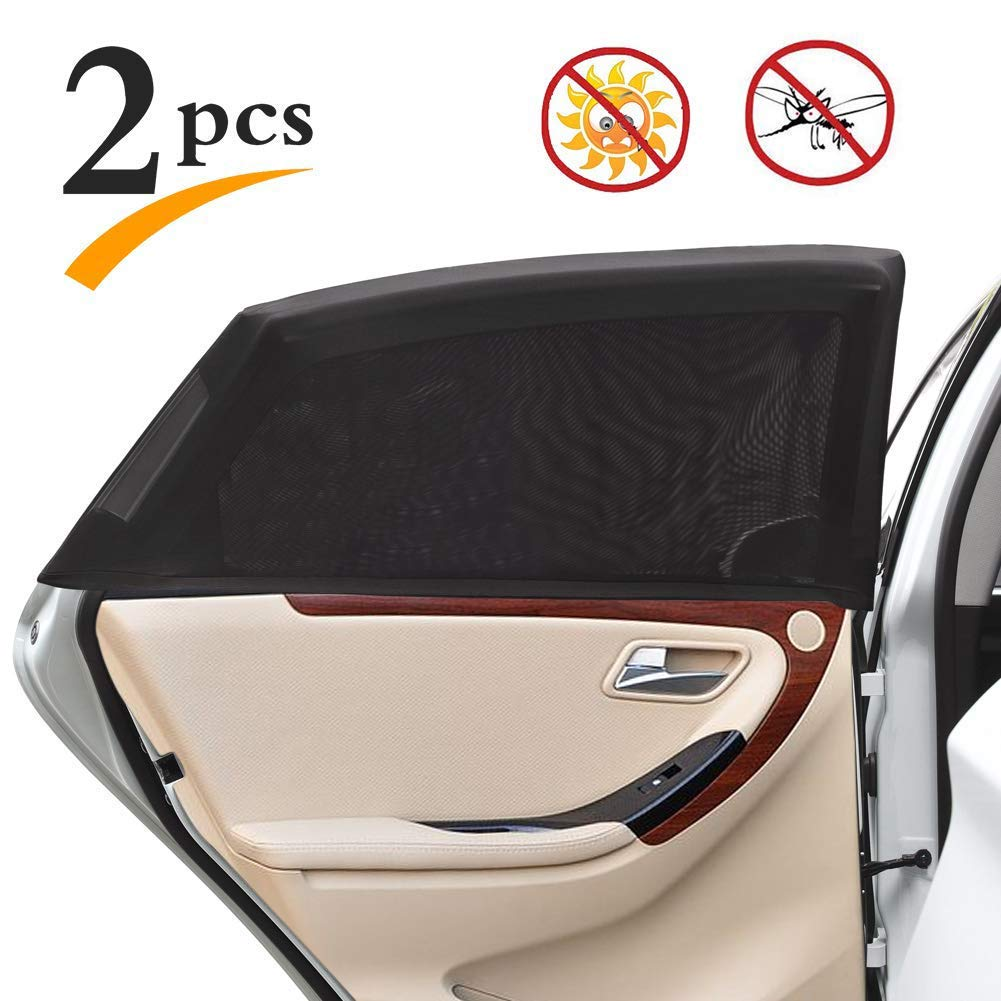 2Pcs Sun Shade Sox Universal Fit Baby Rear Car Side Window CurtainYT
