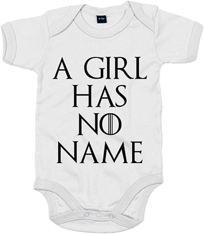 Body Game of Thrones avec inscription /«A girl has no name/» 6-12 meses blanc Diver Beb/é