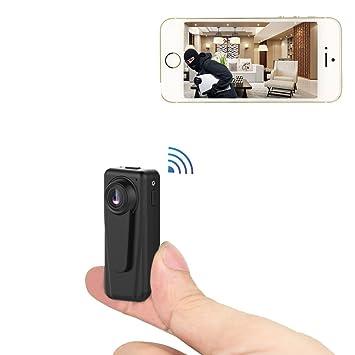 PNZEO F2 Mini IP Cámara Cámara Espía HD 1080P Cámara Oculta Portátil Interior/Exterior WiFi Cámara de Seguridad: Amazon.es: Electrónica