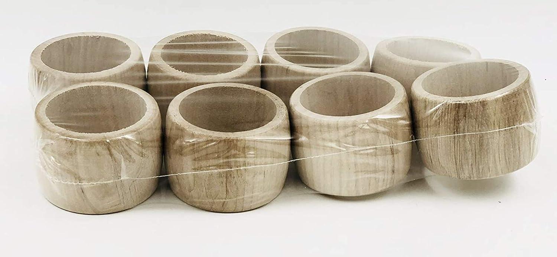 MGI DESARROLLO - Juego de 8 servilletas de madera en bruto hechas en Francia, Jura (para dejar en bruto o personalizar)
