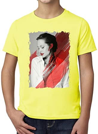 d43421a55 Angelina Jolie Brushed Lips Ultimate Youth Fashion T-Shirt by True ...
