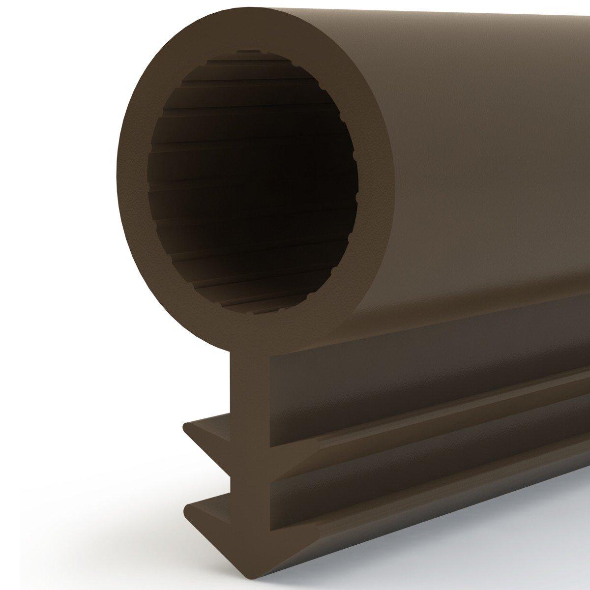 STEIGNER Joint de Porte et de Fen/être STD03 60 m 8 mm Joint d/Étanch/éit/é en Caoutchouc Marron PVC Aluminium