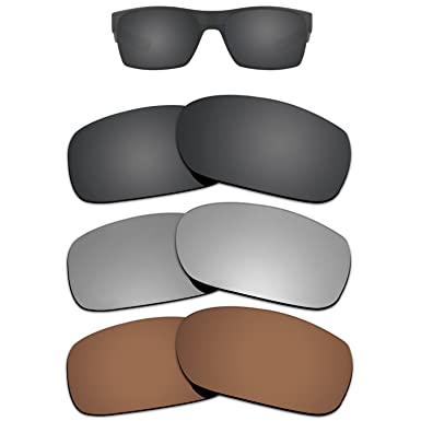 89a405a1940 Amazon.com  Kygear Replacement Lenses Different Colors for Oakley Twoface  Sunglass Polarized Pack of 3  Clothing