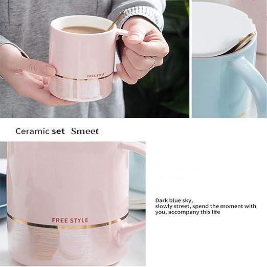 Ss Taza de 14 onzas para café/té/Coco, Juego de Tazas de cerámica ...