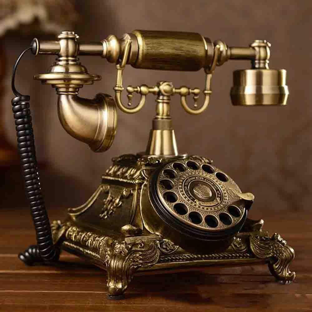 YAOHM Téléphone Rotatif Créatif De Mode Antique Européen Pastorale Rétro Téléphone Fixe Téléphone Fixe De Bureau
