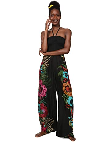 d5a9c8b4ca Desigual Dress Swimwear Dalila Woman Black Mono Largo para Mujer