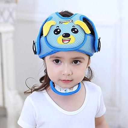 Bebé Anti-Colisión Casco de seguridad ajustable Niños Headguard infantil arneses de protección Cap Head