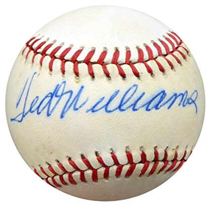 db0d3ffc616 Image Unavailable. Image not available for. Color  Signed Ted Williams Ball  - Official American League ...