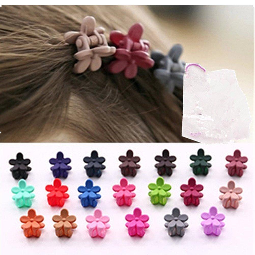 cuhair (TM) Lot de 20femmes fille cheveux Frange Mini Pince à cheveux épingle à cheveux fleur accessoires cutrade