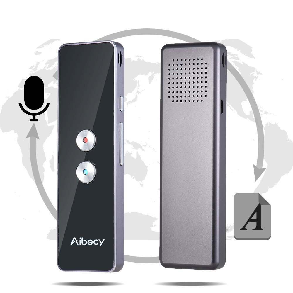 Aibecy Smart Language Translator Real-time Multi Speech/Text Translation Device with APP for Business Travel Shopping English Chinese French Spanish Japanese Arabic by Aibecy
