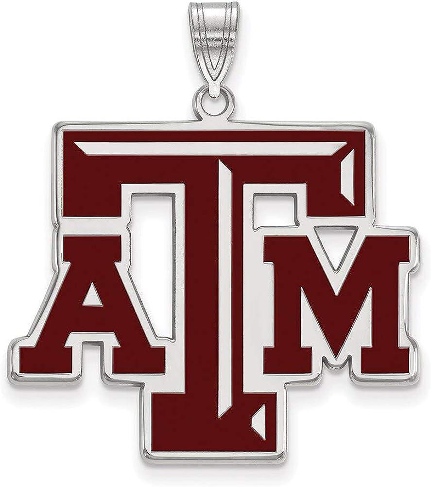 Lex /& Lu LogoArt Sterling Silver w//GP Texas A/&M University XL Pendant LAL138673