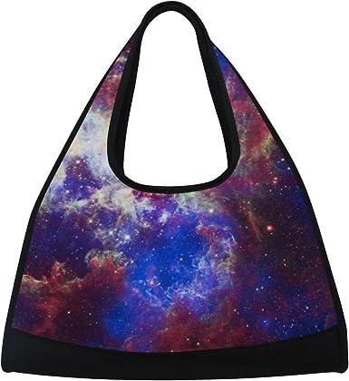 AHOMY Canvas Sports Gym Bag Galaxy Star Space Starry Universe Travel Shoulder Bag