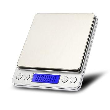cogeek 3000 G/0.1g LCD portátil Mini báscula de cocina báscula digital bolsillo caso postal joyería peso equilibrio Digital escala: Amazon.es: Coche y moto