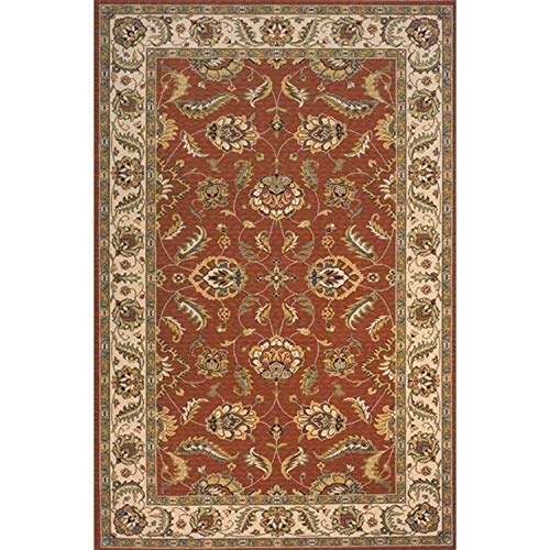 (Momeni Rugs PERGAPG-10SAL80A0 Persian Garden Collection, 100% New Zealand Wool Traditional Area Rug, 8' x 10', Salmon)